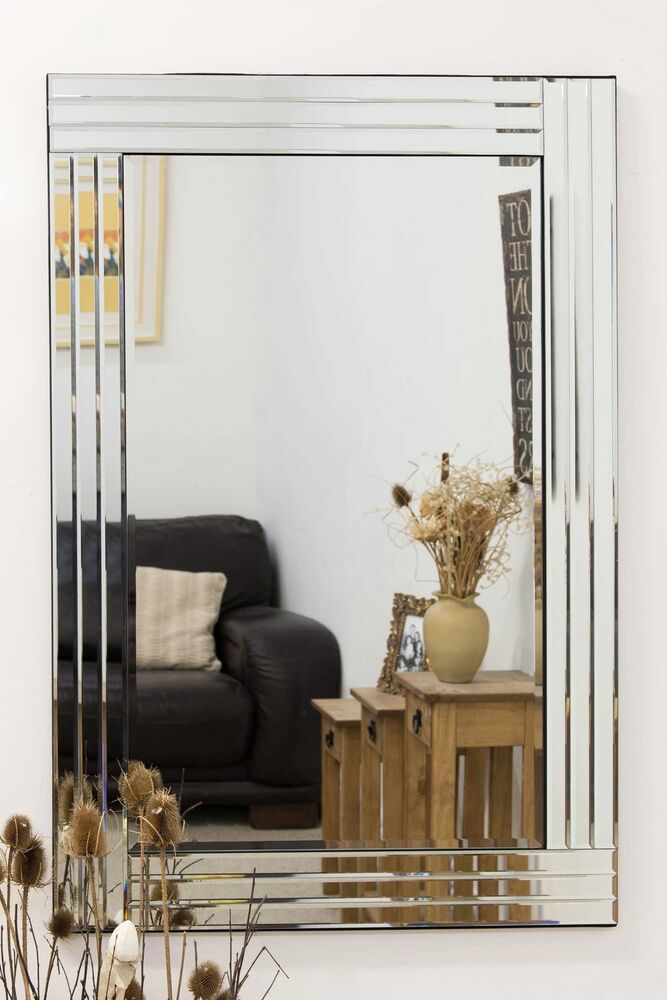 Large venetian bevelled wall mirror 3ft3x2ft3 100cm x 70cm for Miroir 100 x 70