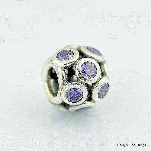 New  Authentic Pandora Charm Purple Whimsical Lights