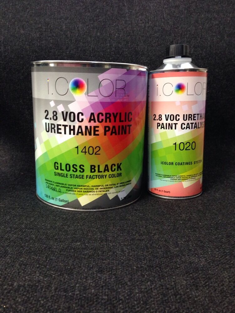 Gloss Black Gallon Kit Single Stage Acrylic Urethane Auto Paint Kit Ebay