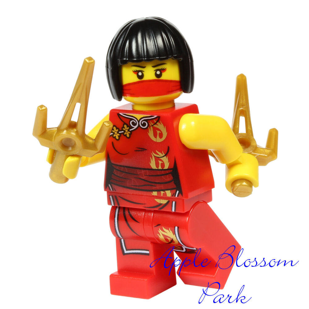 New lego ninjago nya minifig female ninja girl w 2 minifigure sai weapon tools ebay - Ninja ninjago ...