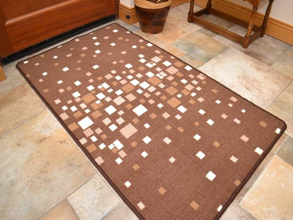 small large dark brown long runners strong non slip floor rugs rubber back mats ebay. Black Bedroom Furniture Sets. Home Design Ideas