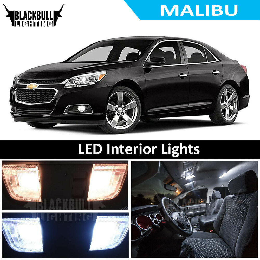 2013 Up Chevrolet Chevy Malibu White Interior Led Package Kit 11 Piece Ebay