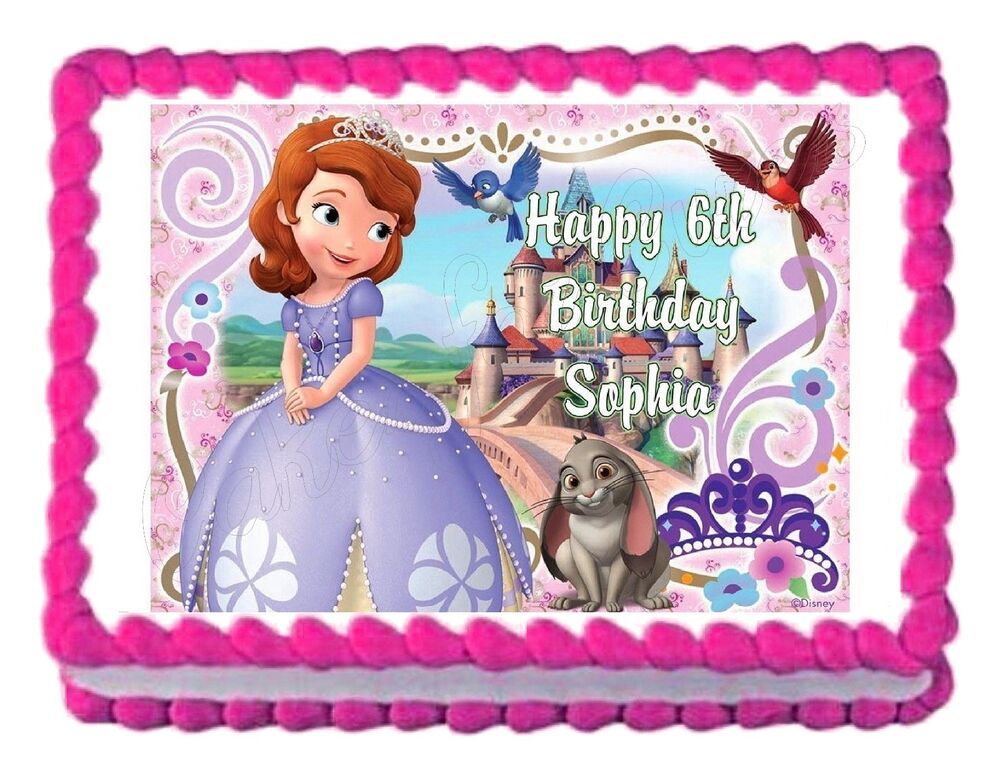 Sofia The First Cake Topper Printable