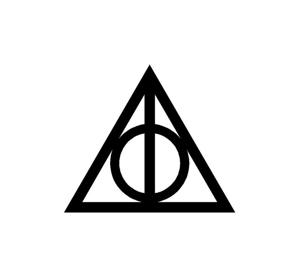 Harry potter deathly hallows vinyl decal sticker car truck for Harry potter and the deathly hallows wand
