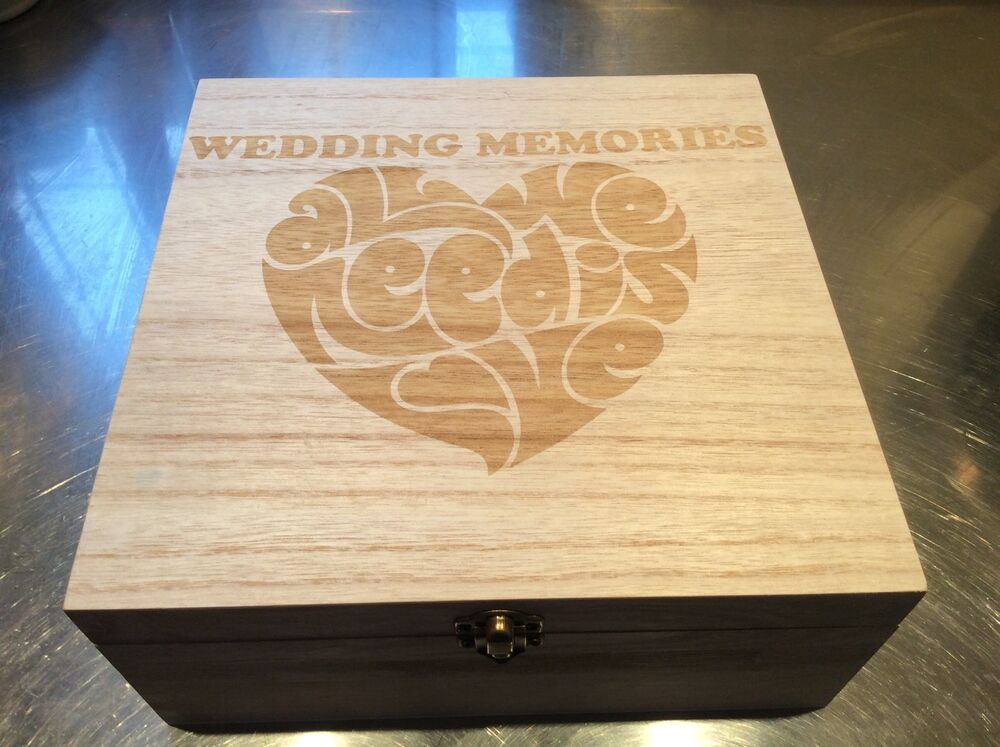 Indian Wedding Gift Boxes Uk : LARGE WOOD WOODEN BOX WEDDING KEEPSAKE GIFT WORDS eBay