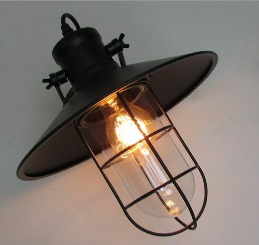 Diy Wall Light Fixtures: Ajustable Vintage Industrial Wall Lamp Outdoor Light Glass