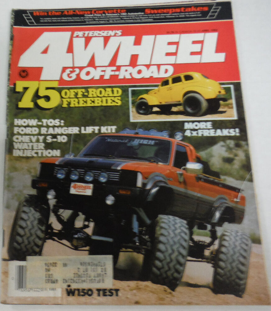 4 wheel off road magazine w150 test ford ranger lift kit april 1983 080614r ebay. Black Bedroom Furniture Sets. Home Design Ideas