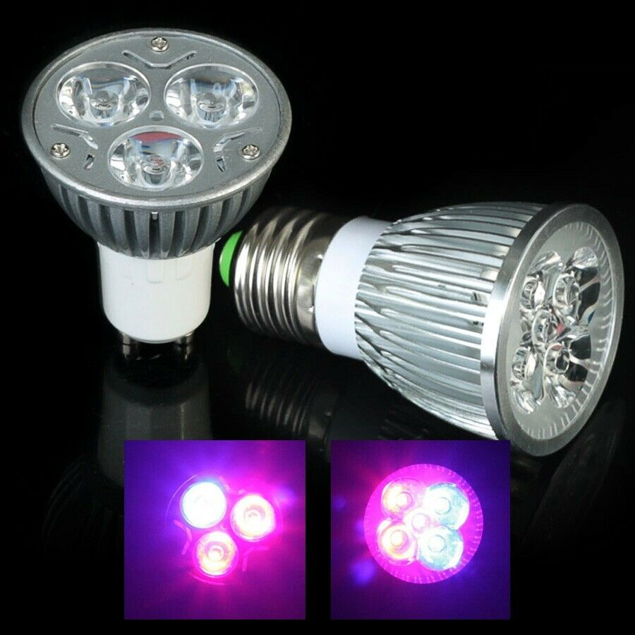 6w 10w growing medical hydroponic led grow light lamp e27 gu10 plant grow bulb ebay. Black Bedroom Furniture Sets. Home Design Ideas