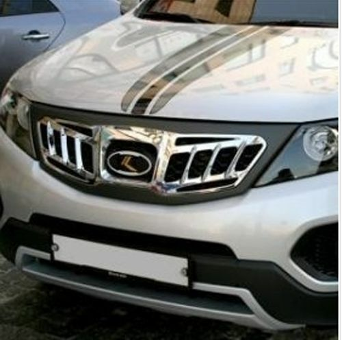 Luxury Emblem Front Hood Chrome Radiator Tuning Grill For
