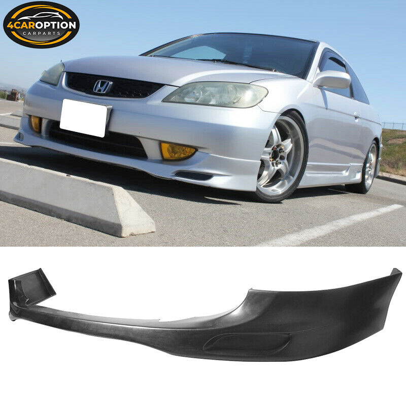 04 05 honda civic 2dr 4dr em2 es2 urethane rs front lip ebay. Black Bedroom Furniture Sets. Home Design Ideas