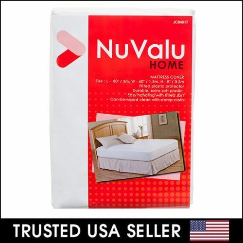 mattress cover queen size fitted plastic bed protector anti bed bug allergy ebay. Black Bedroom Furniture Sets. Home Design Ideas