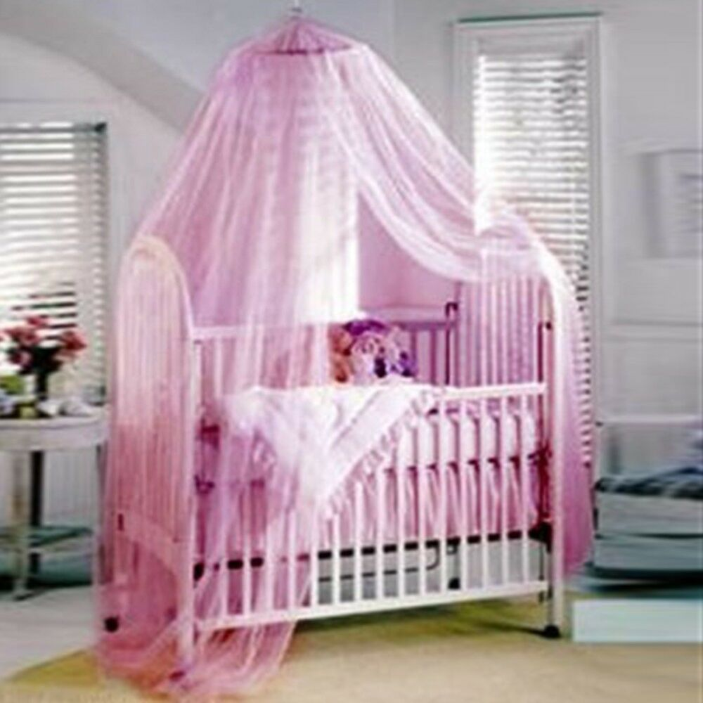 Baby Canopy For Crib: Pink Mosquito Net Canopy Netting For Baby Toddler Crib Bed