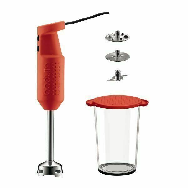 Bodum Red Bistro Electric Blender Stick Mixer Processors