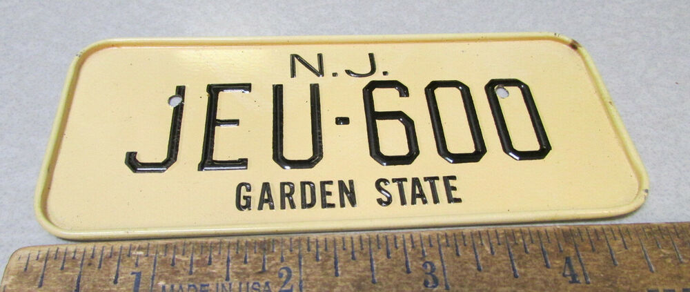 New Jersey Garden State Bicycle Plate Jeu 600 In