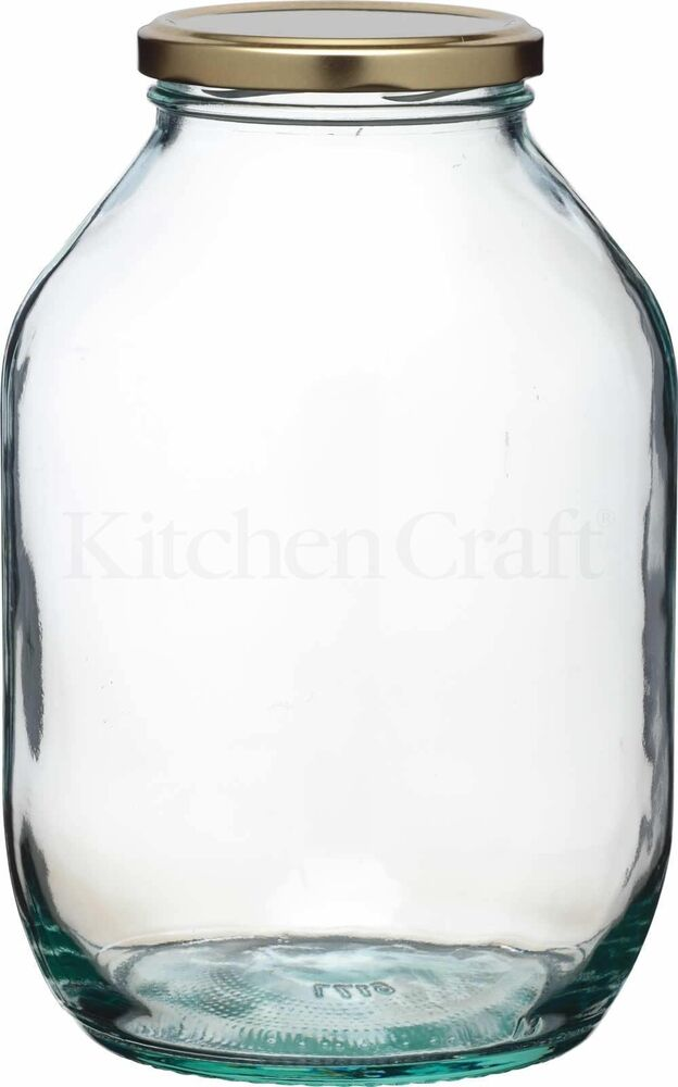 traditional large half gallon twist lid glass preserving pickling storage jar ebay. Black Bedroom Furniture Sets. Home Design Ideas