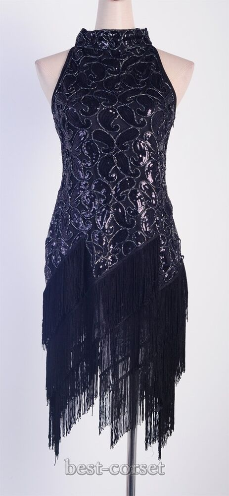 1920's Flapper Dress Clubwear Sexy Great Gatsby Sequin ...