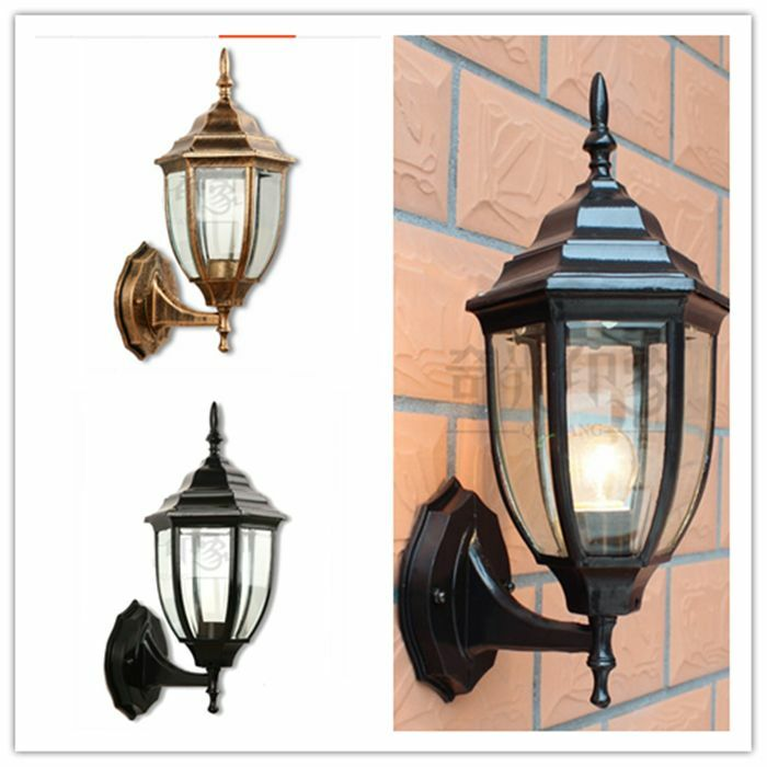 Retro antique vintage industrial wall lamp outdoor glass for Vintage exterior light fixtures