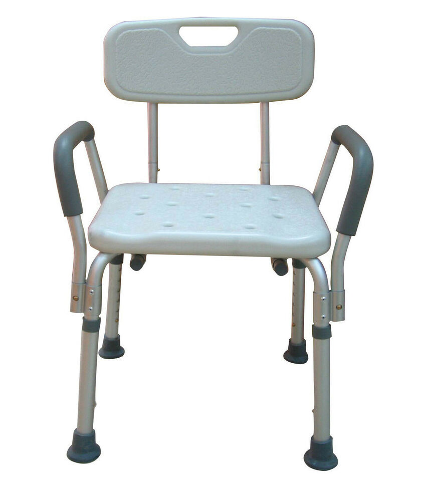 Medical bath seat shower bathtub bench chair with 300 lbs weight capacity back ebay Bath bench