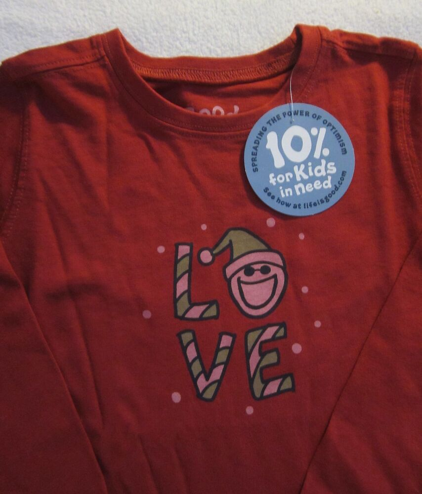 Life Is Good Christmas Holiday Love Jake Red Ls T Shirt