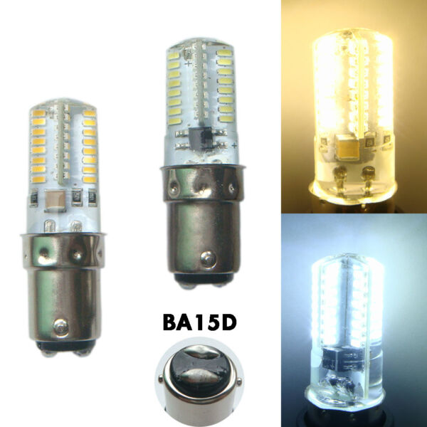 BA15D LED Bulb Dimmable 110V/220V 2.6W 64-3014SMD Corn Bulb for Sewing Machine G