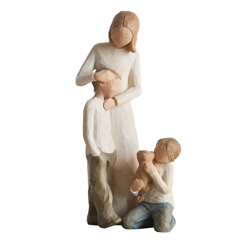 willow tree mother with two sons figurines new in gift. Black Bedroom Furniture Sets. Home Design Ideas