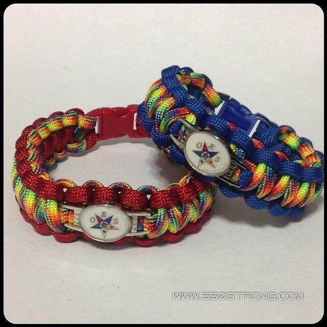 oes order of the eastern bracelet paracord with