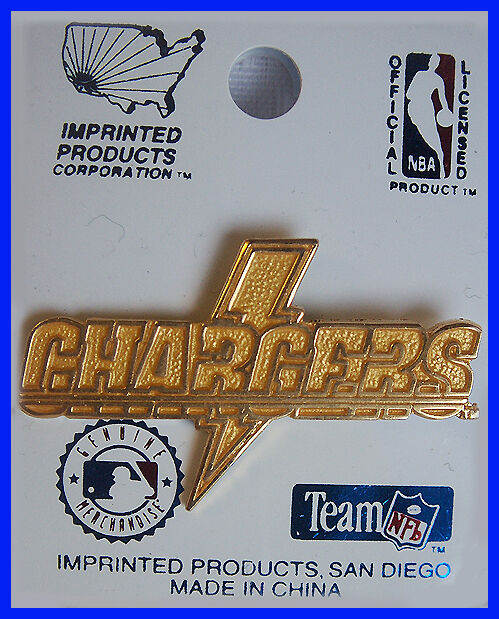 San Diego Chargers Gold Lightning Bolt Lapel Hat Pin