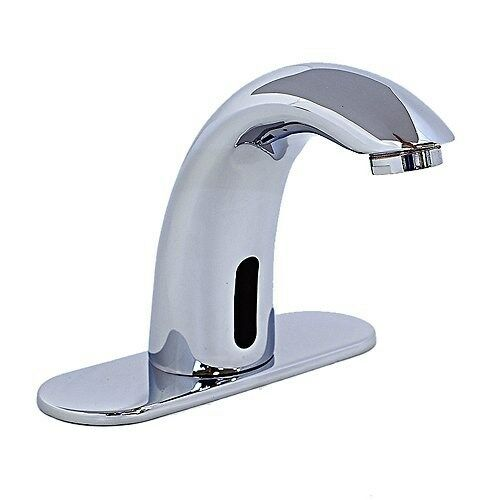 free automatic sensor bathroom faucet chrome finish 17771