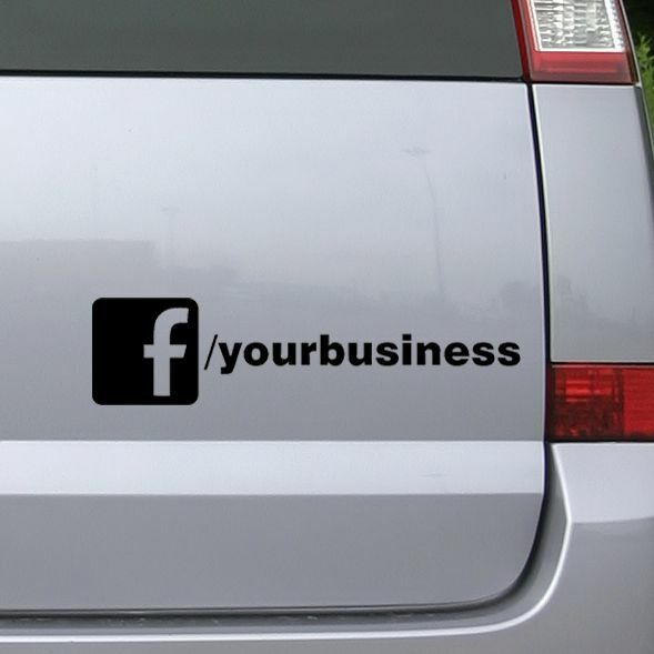 Custom facebook business company car van advert vinyl rear for Vinyl windows company