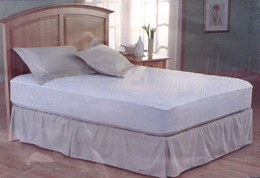 Mattress Cover (Full Size) Fitted Plastic Bed Protector ...