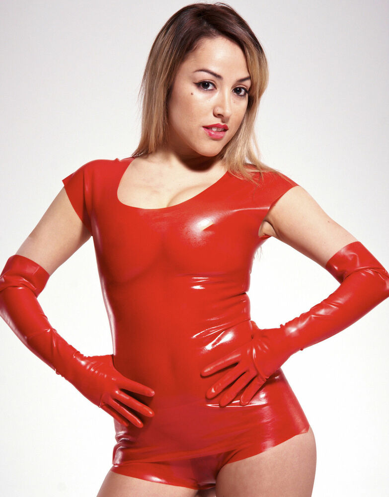 new red latex rubber unisex short sleeve shirt english s m l xl ebay. Black Bedroom Furniture Sets. Home Design Ideas