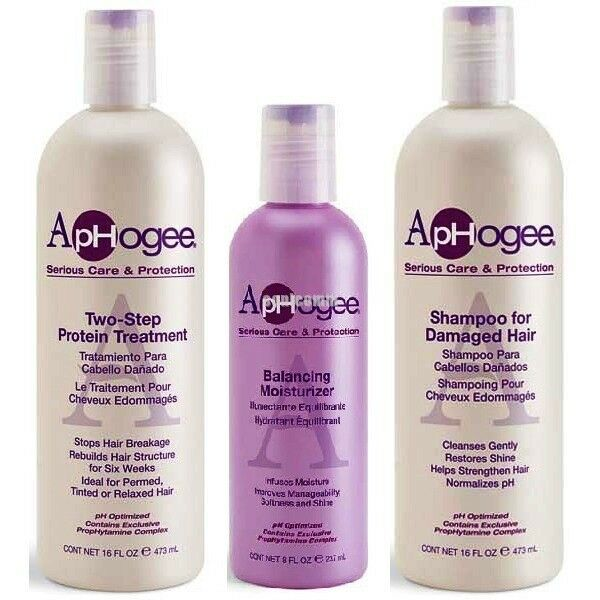 aphogee two step protein treatment shampoo for damage hair balancing moisturizer ebay. Black Bedroom Furniture Sets. Home Design Ideas