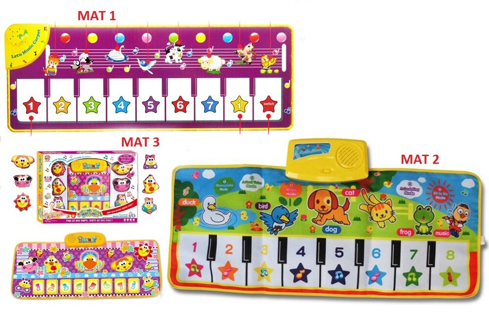 New Colorful Baby Kid Music Animals Piano Mat Touch Kick