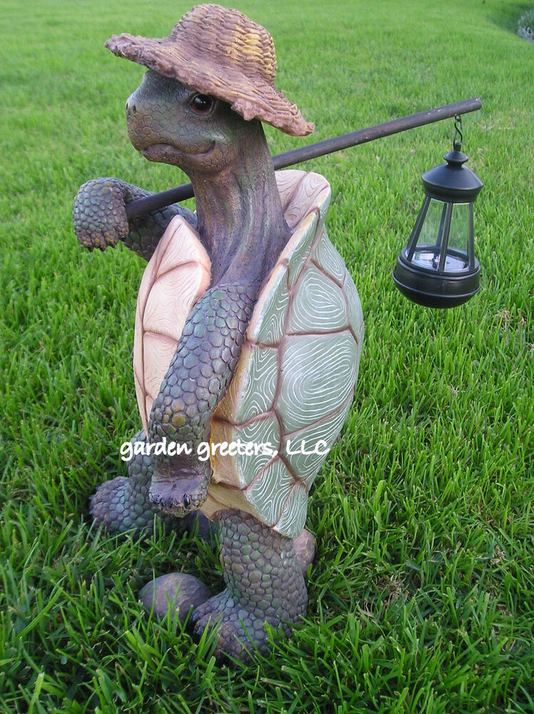 garden statue turtle with solar lantern turtle with solar