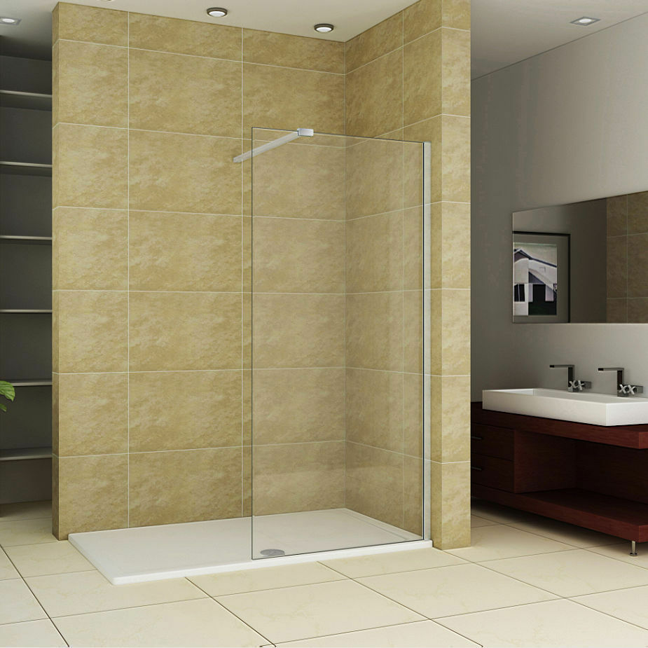 Walk in shower enclosure tray glass panel 1600 x 800 tray 1200 glass ebay - Walk in glass shower enclosures ...