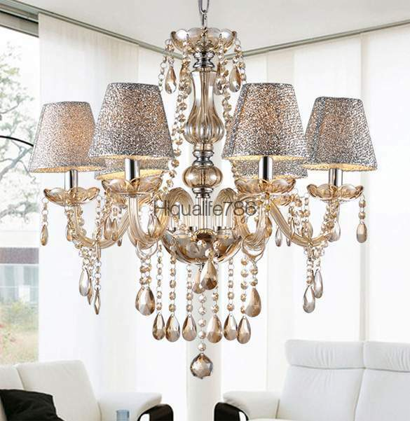 Pendant Lamps Chandeliers: 6 Lights Crystal Chandelier Light Pendant Lamp Ceiling
