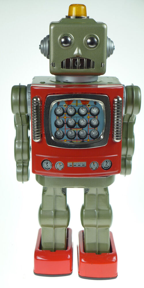 Japanese Tin Toy Robots : Japanese tin toy starstrider smoking robot collectors ltd