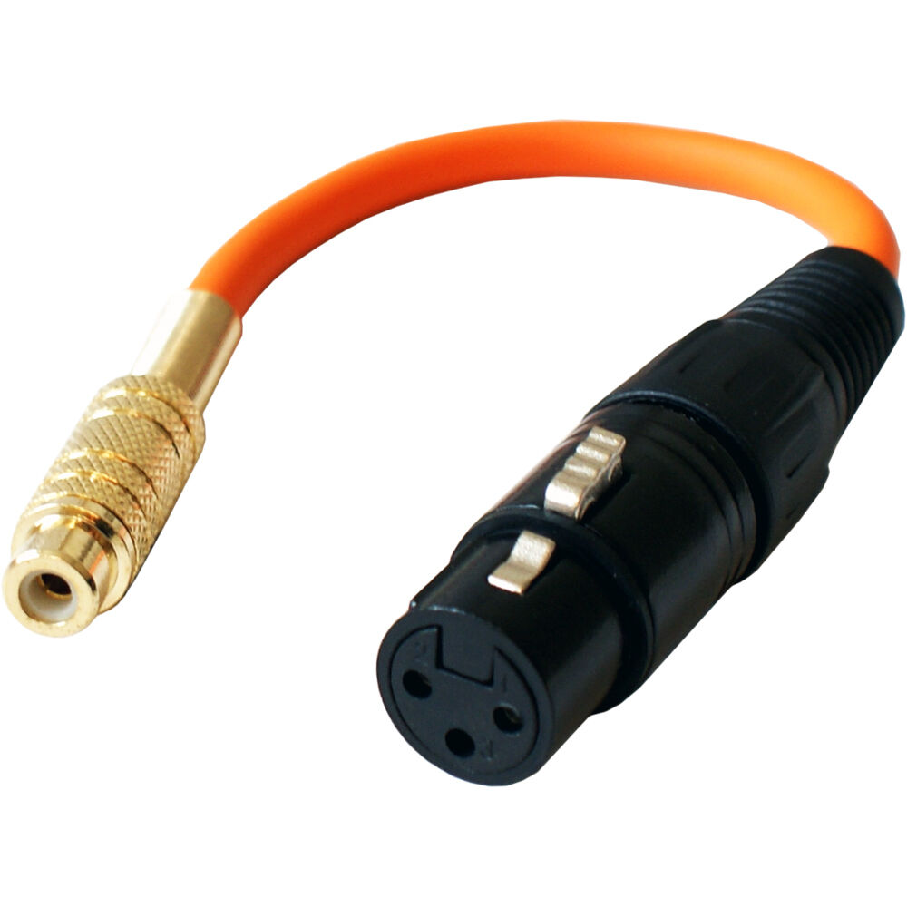 3pin Xlr Female To Rca Phono Socket Cable Lead Adapter