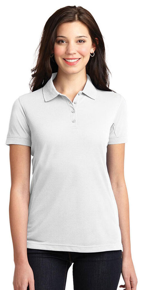 Port authority women 39 s moisture wick four button polyester for Moisture wicking button down shirts
