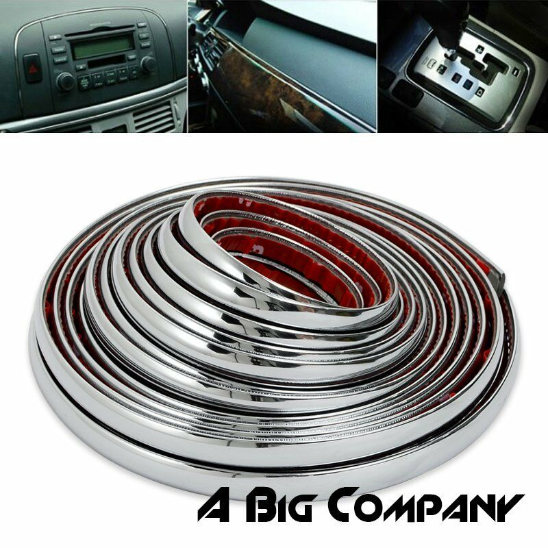 26ft x 8mm chrome auto car interior exterior moulding trim strip decoration line ebay. Black Bedroom Furniture Sets. Home Design Ideas