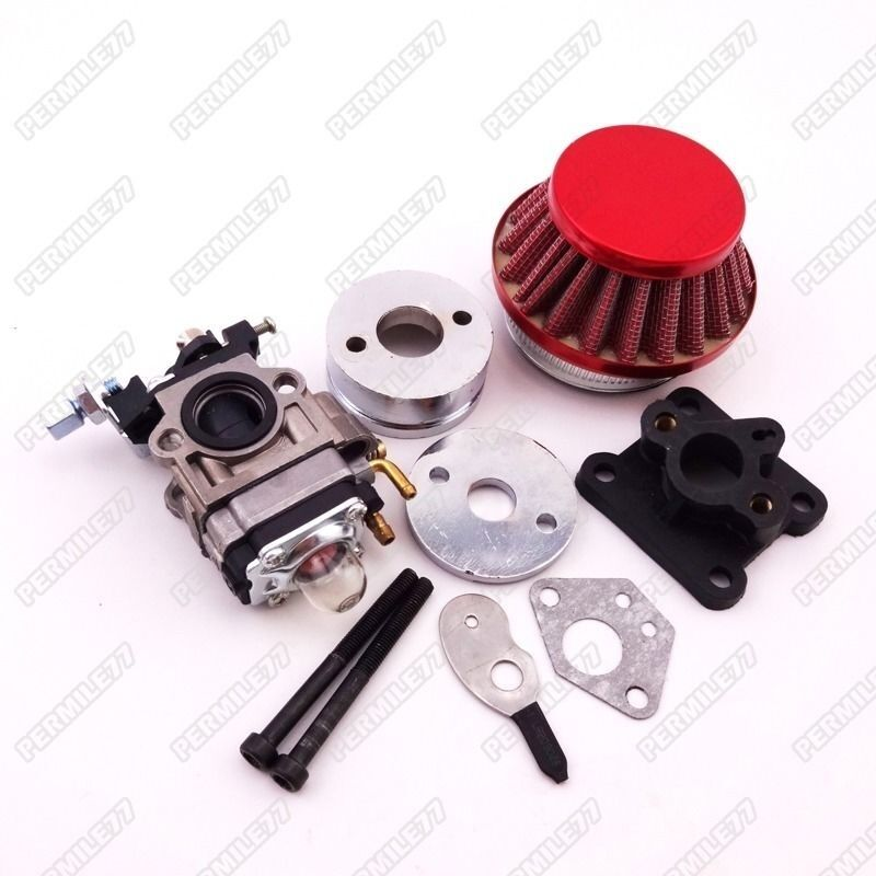 racing carburetor kit carb air filter stack 47cc 49cc mini atv dirt pocket bike ebay. Black Bedroom Furniture Sets. Home Design Ideas