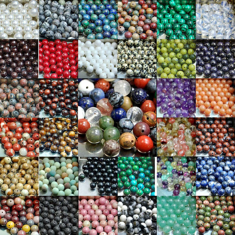 Natural Stone Beads : Natural gemstone round spacer loose beads mm