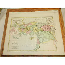 1808 Antique COLOR Map//ATLAS CLASSICA///GREEK EMPIRE