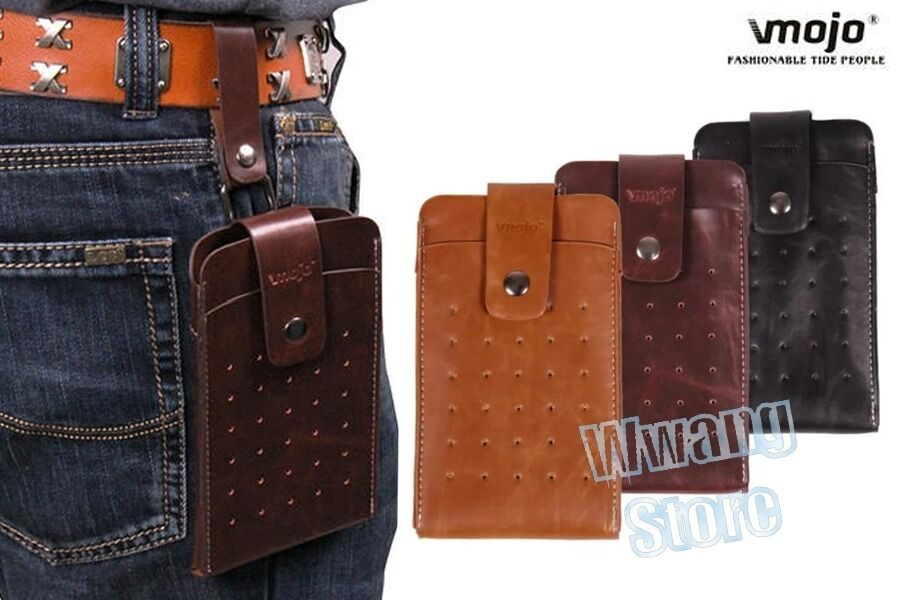 retro pu leather belt holster pouch pocket sleeve