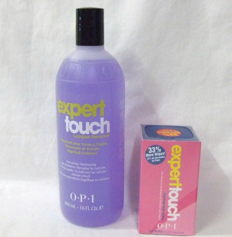 OPI Expert Touch Gel & Polish Remover 16oz + Nail Wipes