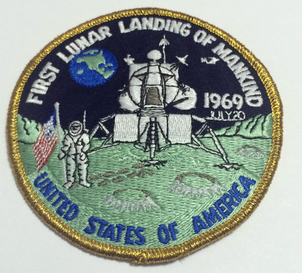 Neil Armstrong Apollo 11 First Lunar Landing Mankind Patch ...
