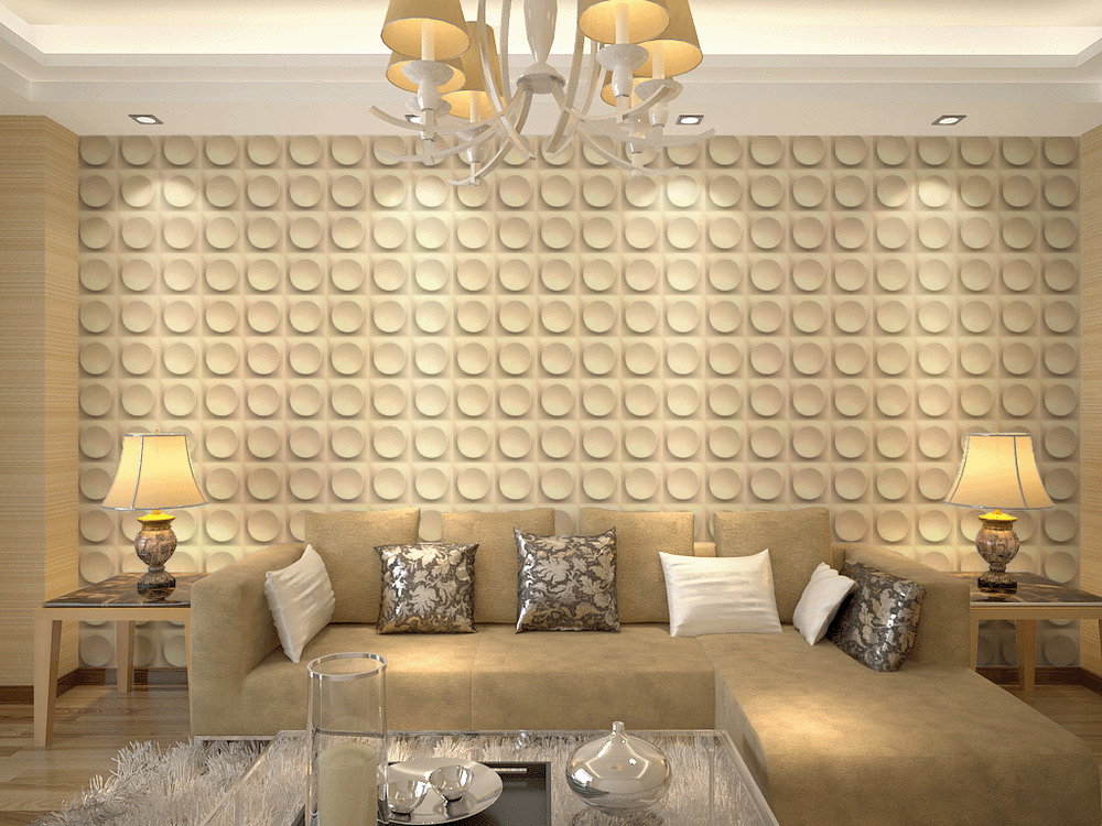 3d wall panels living room bedroom feature wall paper for Living room 3d tiles