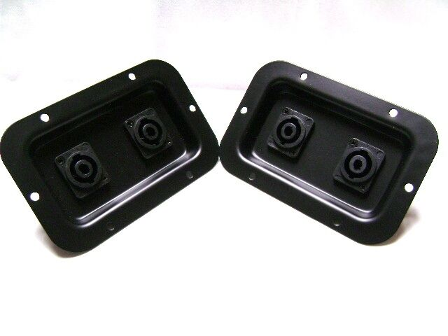 2 Two Jack Plates With Dual Speakon Nl4 For Pa Speakers