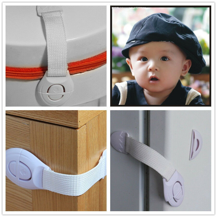 white functional child baby safety care fridge drawer door cabinet cupboard lock ebay. Black Bedroom Furniture Sets. Home Design Ideas