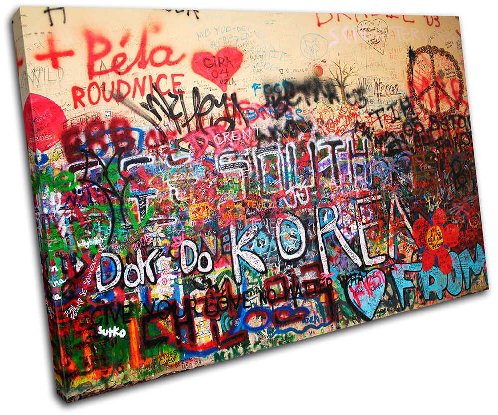 Funky urban graffiti single canvas wall art picture print for Funky wall art